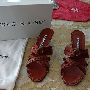 MANOLO BLAHNIK Size 10.5 Sandals **NEW**
